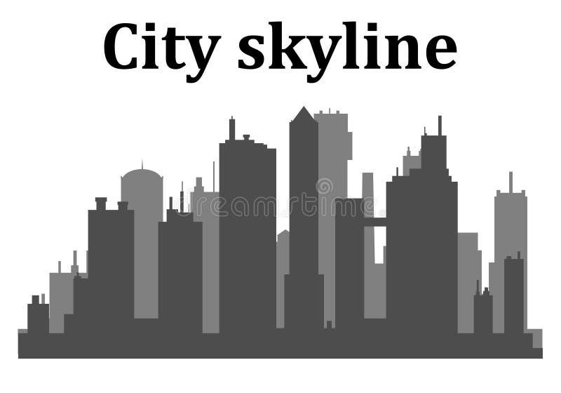 Orizzonte della città Grattacieli della città che costruiscono ufficio royalty illustrazione gratis