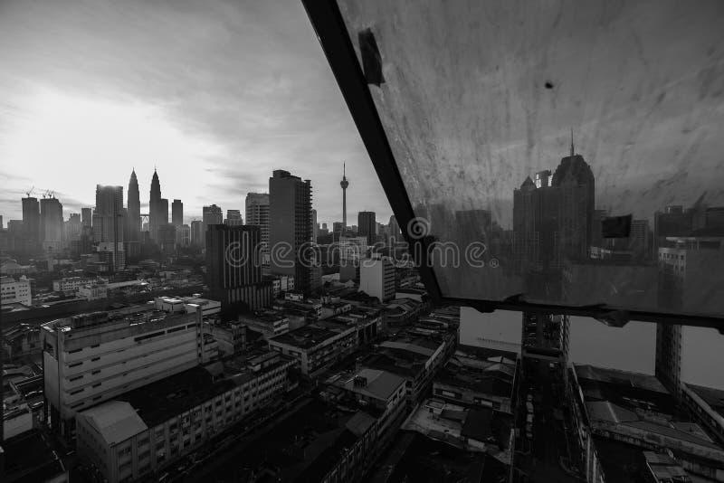 Orizzonte della città della Malesia fotografie stock libere da diritti
