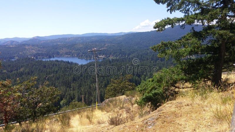 Orizzonte della Columbia Britannica fotografie stock