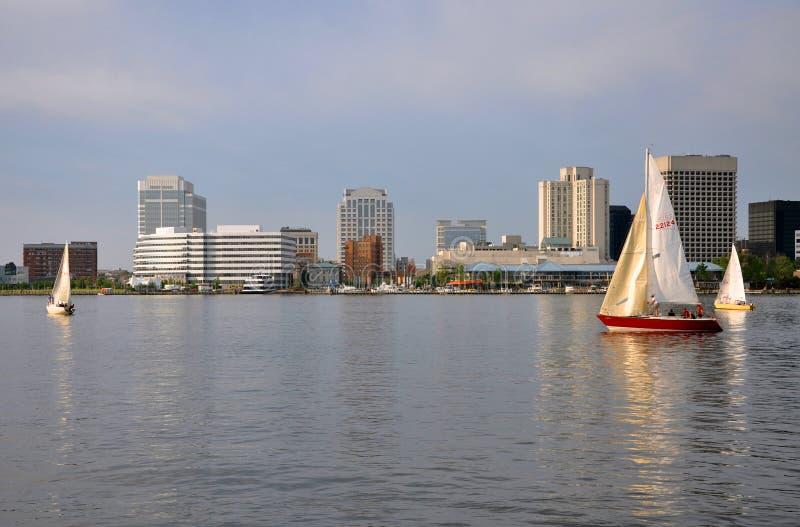 Orizzonte della Norfolk, la Virginia immagine stock libera da diritti