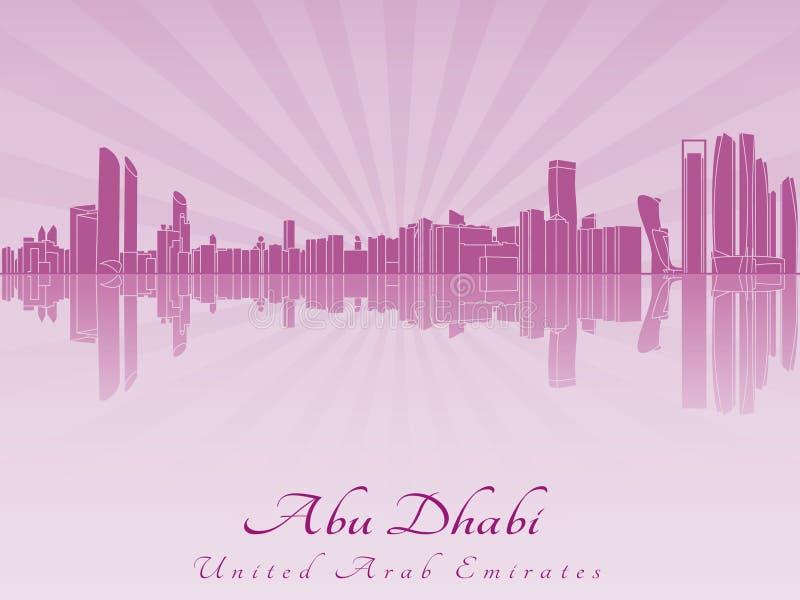 Orizzonte di Abu Dhabi in orchidea radiante royalty illustrazione gratis