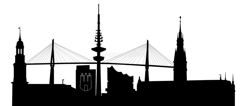 Orizzonte di Amburgo illustrazione vettoriale