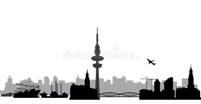 Orizzonte di Amburgo illustrazione di stock