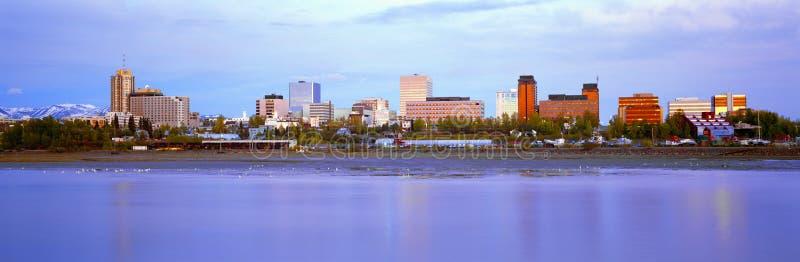 Orizzonte di Anchorage fotografia stock