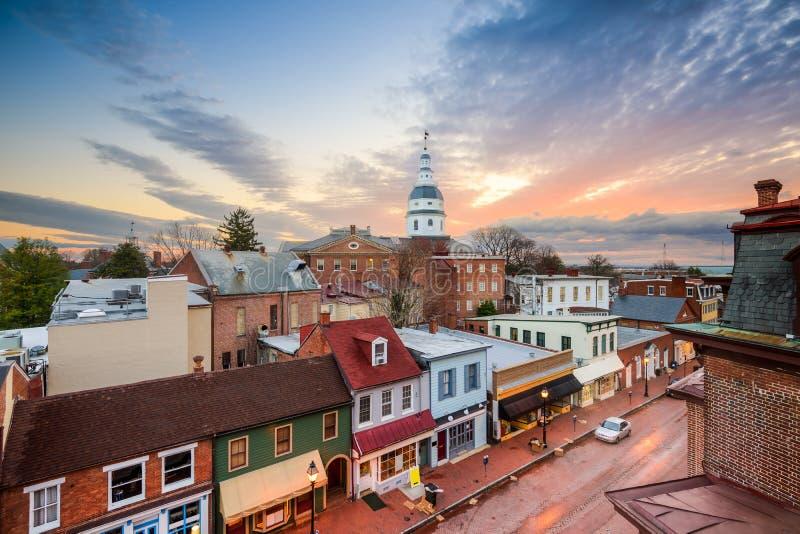 Orizzonte di Annapolis fotografie stock