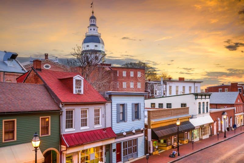 Orizzonte di Annapolis immagini stock libere da diritti