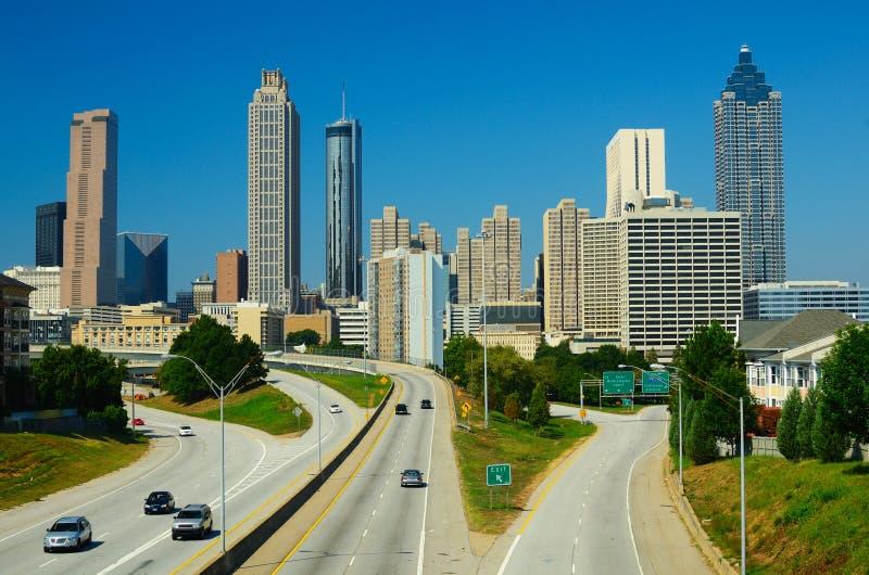 Orizzonte di Atlanta fotografie stock