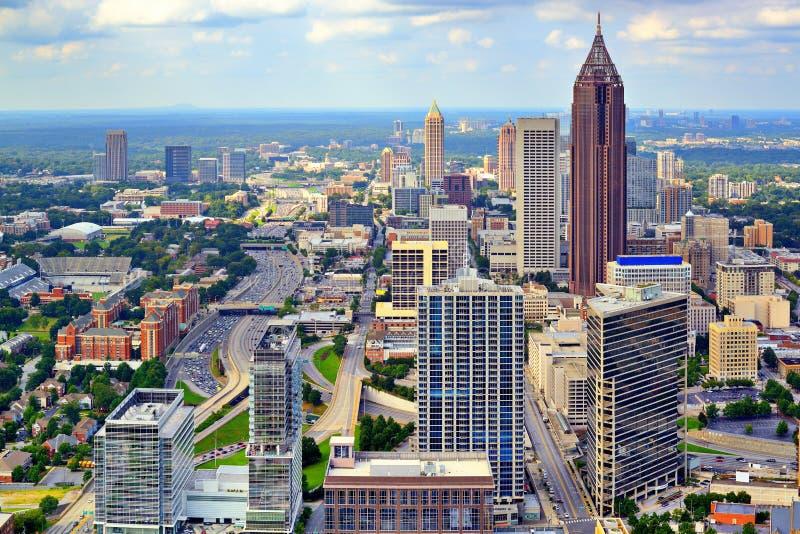 Orizzonte di Atlanta fotografia stock libera da diritti