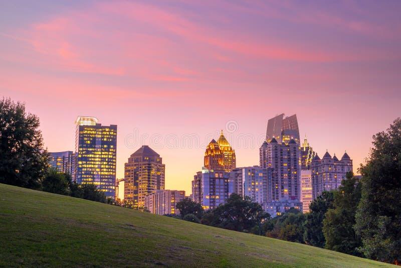 Orizzonte di Atlanta di Midtown fotografia stock