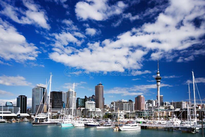 Orizzonte di Auckland fotografie stock libere da diritti