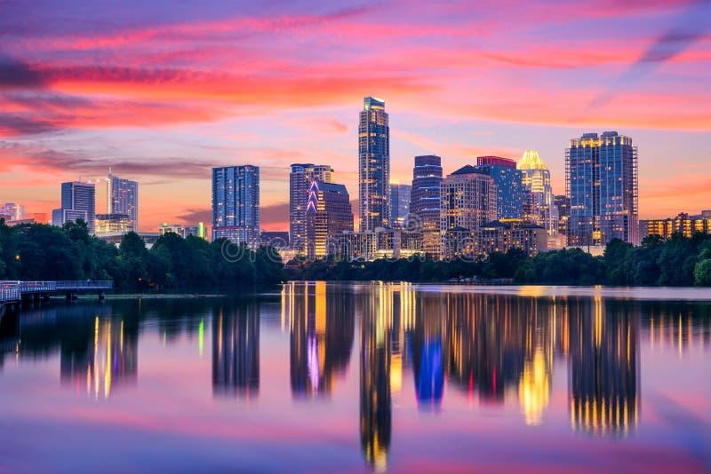 Orizzonte di Austin, il Texas immagini stock