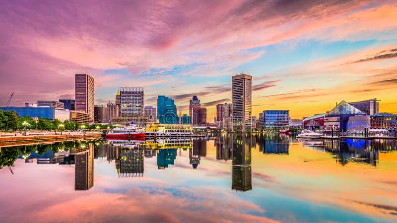 Orizzonte di Baltimora, Maryland immagine stock libera da diritti