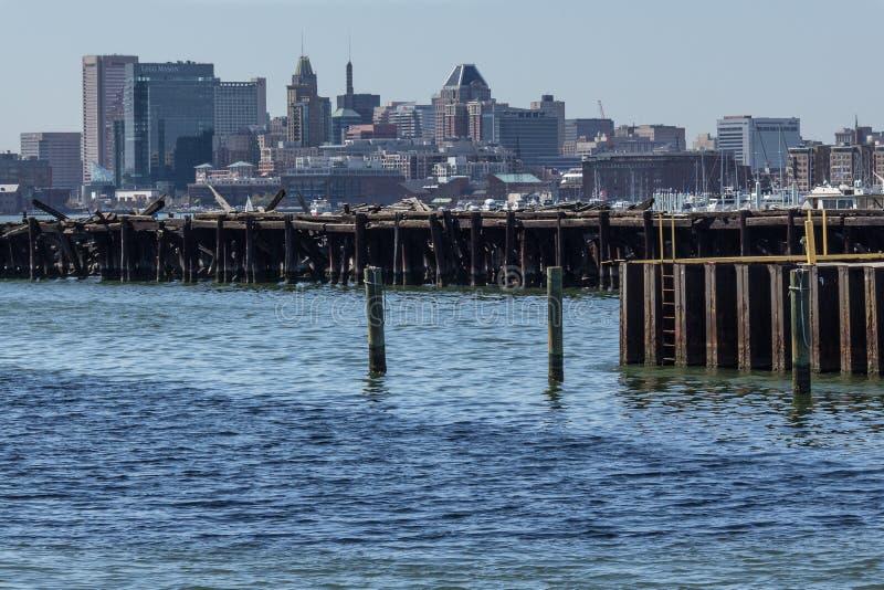 Orizzonte di Baltimora, Maryland fotografia stock