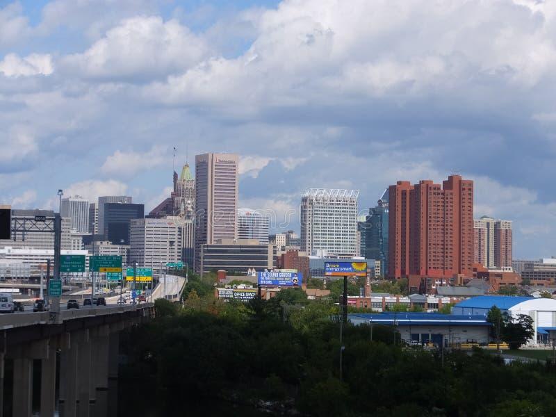 Orizzonte di Baltimora, Maryland fotografia stock libera da diritti