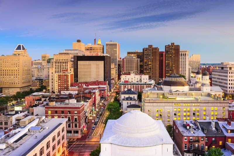 Orizzonte di Baltimora Maryland fotografia stock libera da diritti