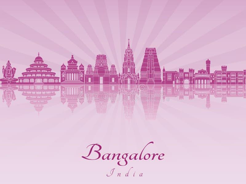 Orizzonte di Bangalore in orchidea radiante porpora illustrazione di stock