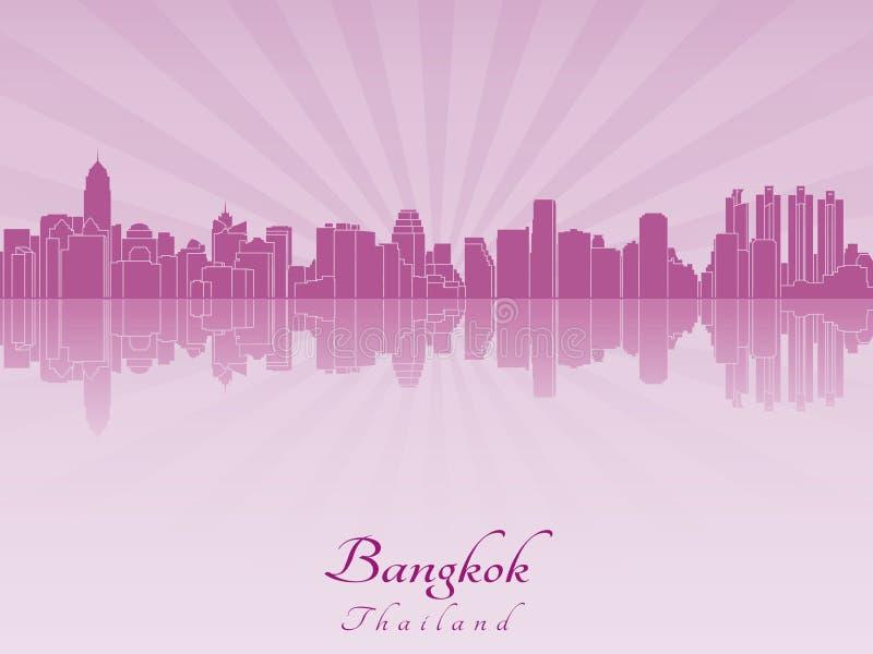 Orizzonte di Bangkok in orchidea radiante porpora royalty illustrazione gratis