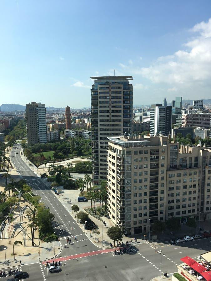 Orizzonte di Barcellona immagine stock