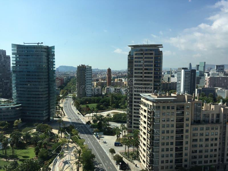 Orizzonte di Barcellona immagini stock