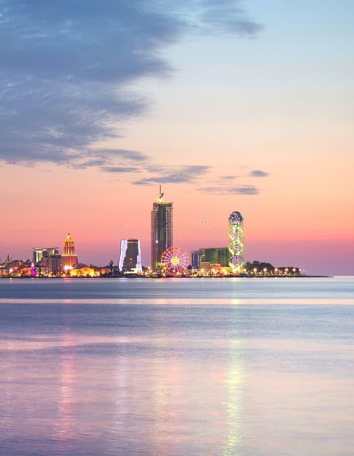 Orizzonte di Batumi, Georgia immagine stock