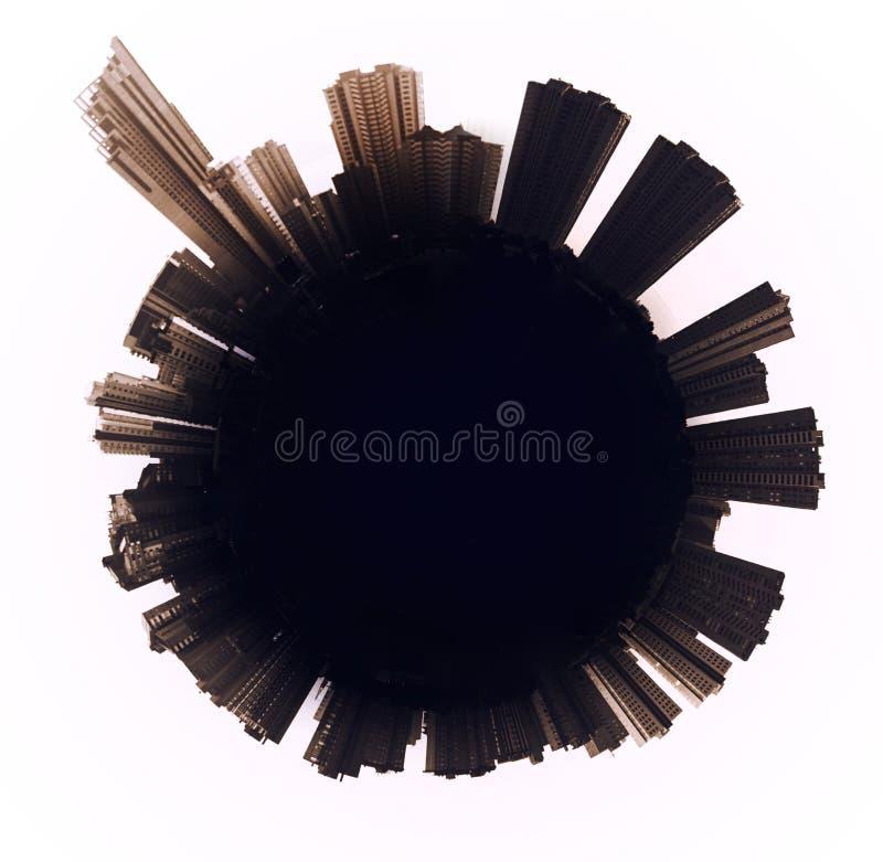 Orizzonte di Benidorm spain illustrazione vettoriale