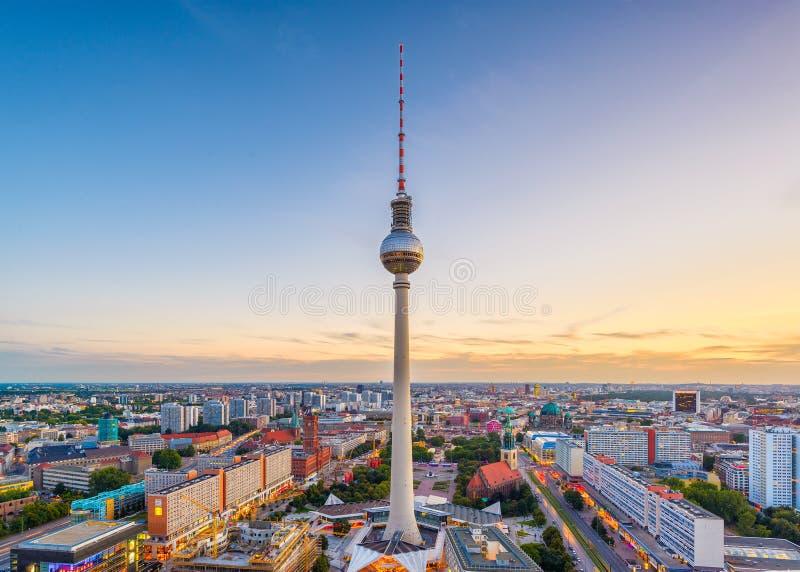 Orizzonte di Berlino, Germania fotografia stock