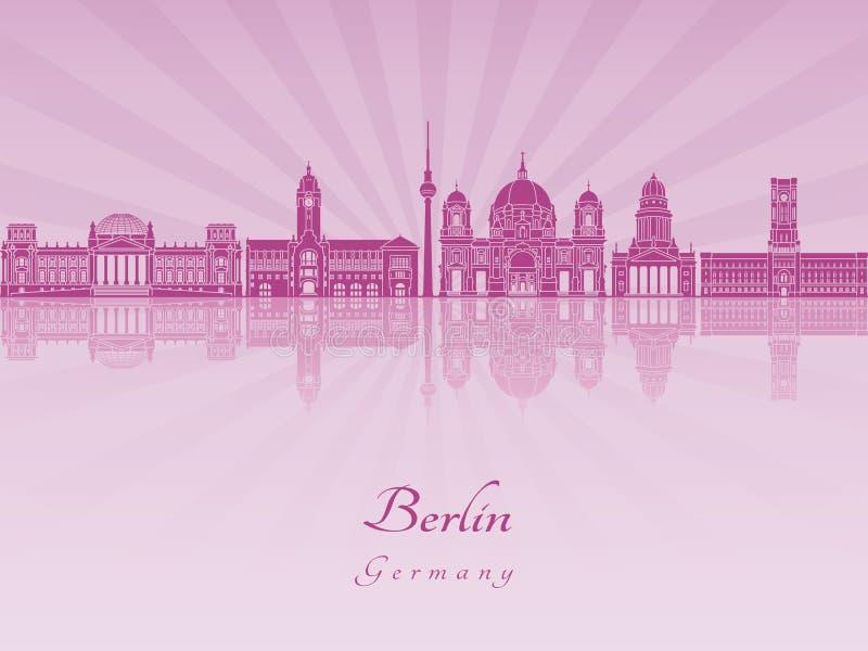 Orizzonte di Berlino V2 in orchidea radiante porpora royalty illustrazione gratis