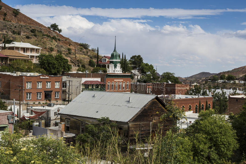 Orizzonte di Bisbee Arizona immagine stock