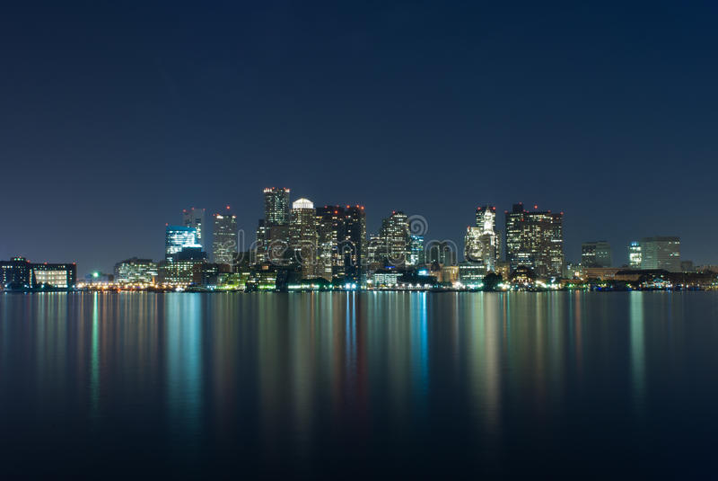 Orizzonte di Boston fotografia stock