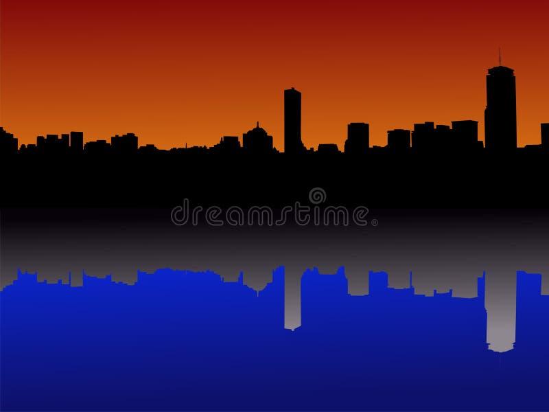 Orizzonte di Boston riflesso royalty illustrazione gratis