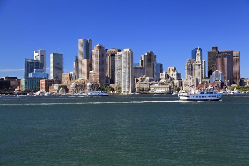 Orizzonte di Boston, U.S.A. fotografie stock libere da diritti