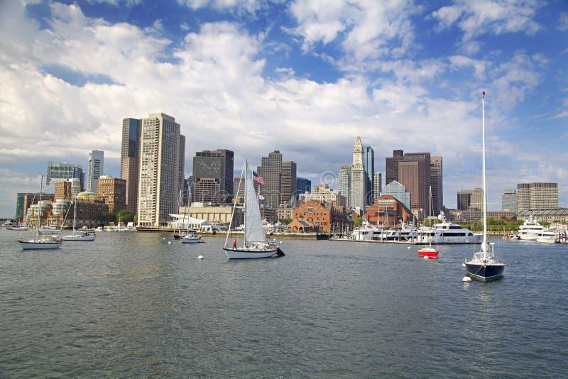 Orizzonte di Boston, U.S.A. fotografia stock
