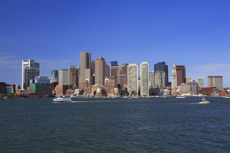 Orizzonte di Boston, U.S.A. fotografie stock