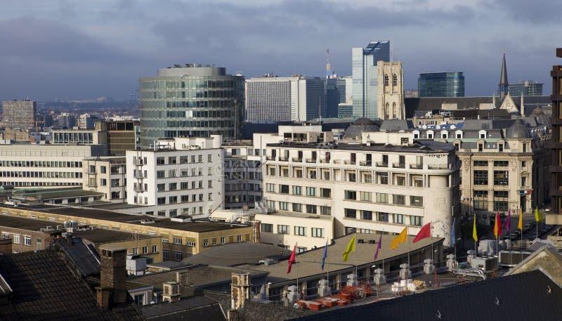 Orizzonte di Bruxelles immagini stock libere da diritti