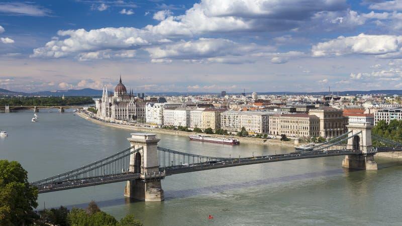 Orizzonte di Budapest Città Vecchia fotografie stock