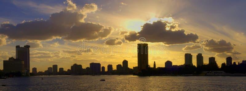 Orizzonte di Cairo immagini stock libere da diritti
