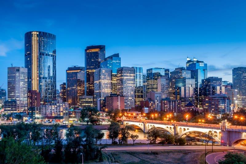 Orizzonte di Calgary immagine stock