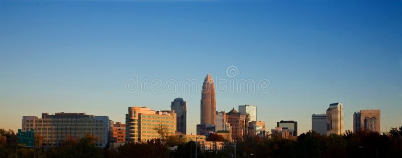 Orizzonte di Charlotte North Carolina fotografia stock