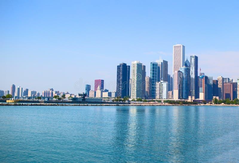 Orizzonte di Chicago fotografie stock libere da diritti