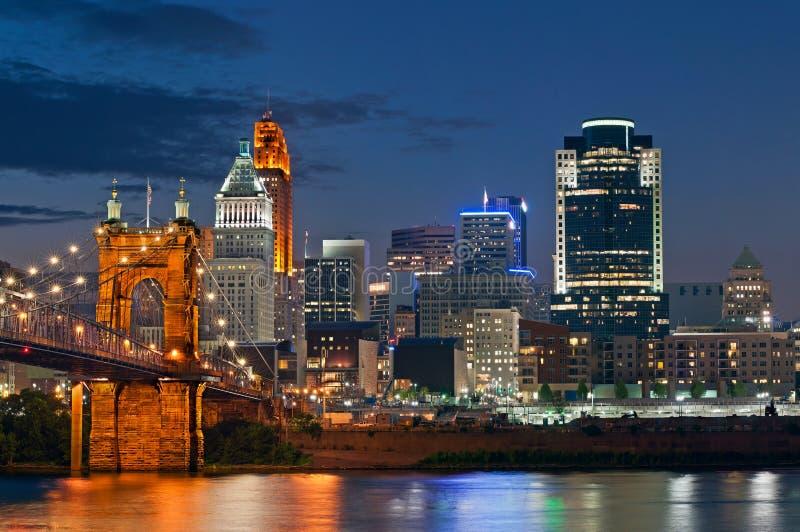 Orizzonte di Cincinnati. immagine stock