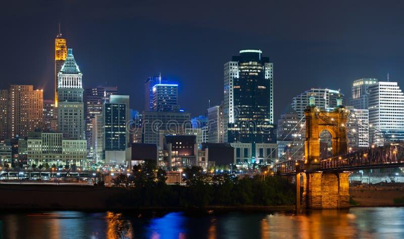 Orizzonte di Cincinnati. immagini stock