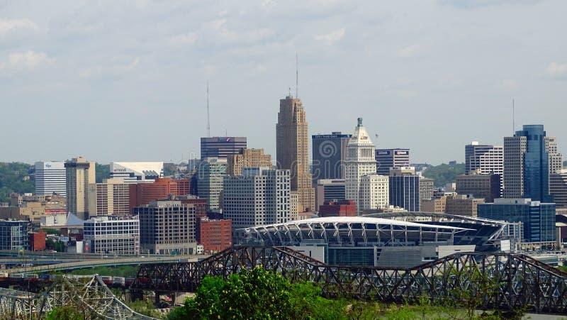 Orizzonte di Cincinnati Ohio fotografia stock