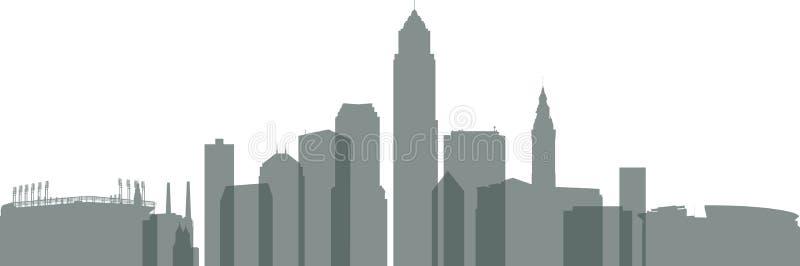 Orizzonte di Cleveland illustrazione vettoriale