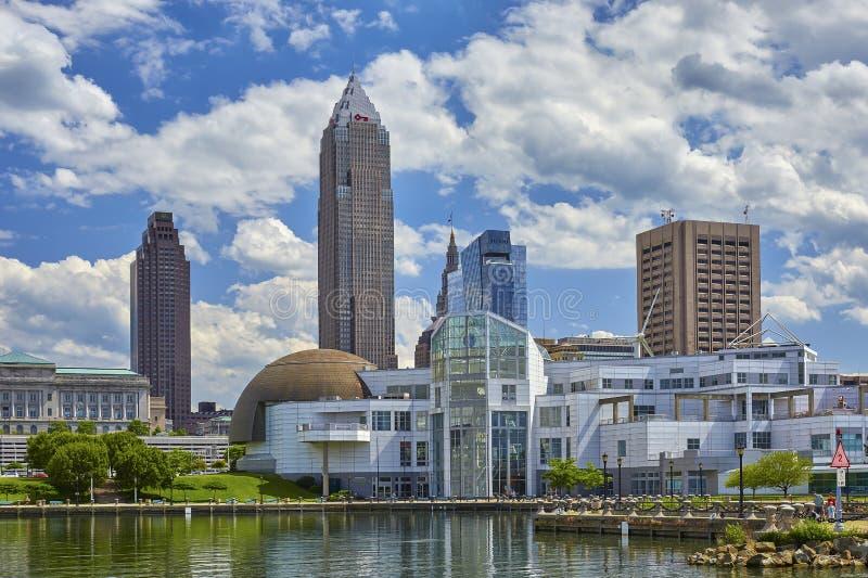 Orizzonte di Cleveland immagine stock