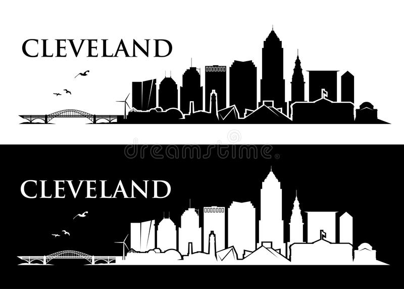 Orizzonte di Cleveland - Ohio - illustrazione di vettore illustrazione di stock