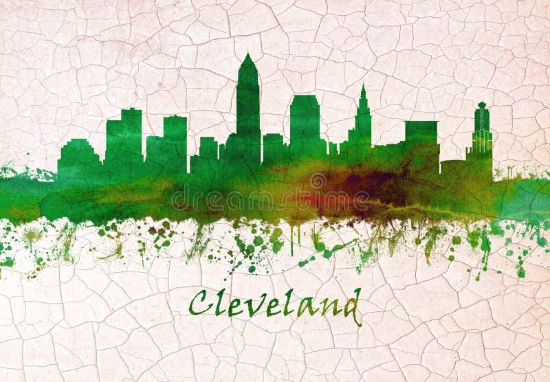 Orizzonte di Cleveland Ohio royalty illustrazione gratis