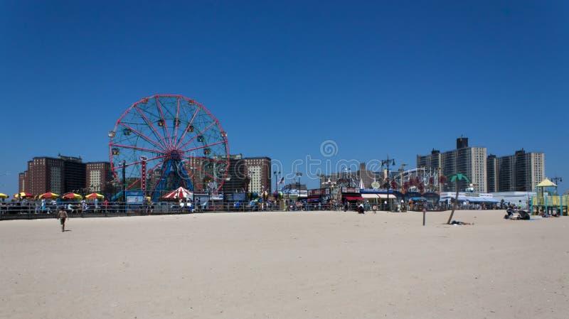Orizzonte di Coney Island Brooklyn New York immagini stock libere da diritti