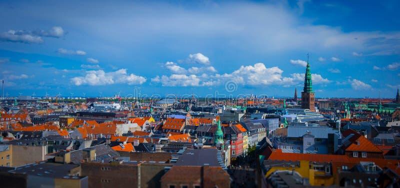 Orizzonte di Copenhaghen immagini stock