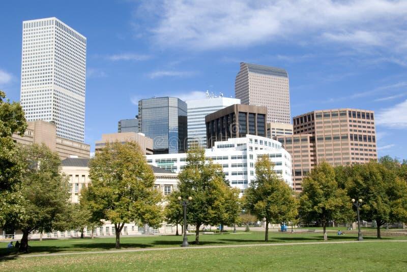 Orizzonte di Denver immagine stock
