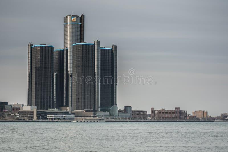 Orizzonte di Detroit immagini stock